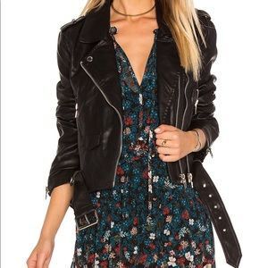 BLANK NYC Faux Leather Crop Moto Jacket XS